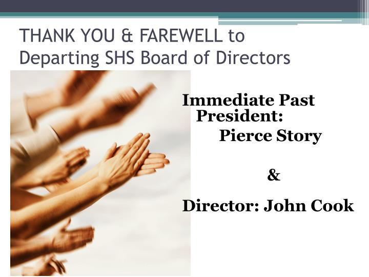 THANK YOU & FAREWELL to