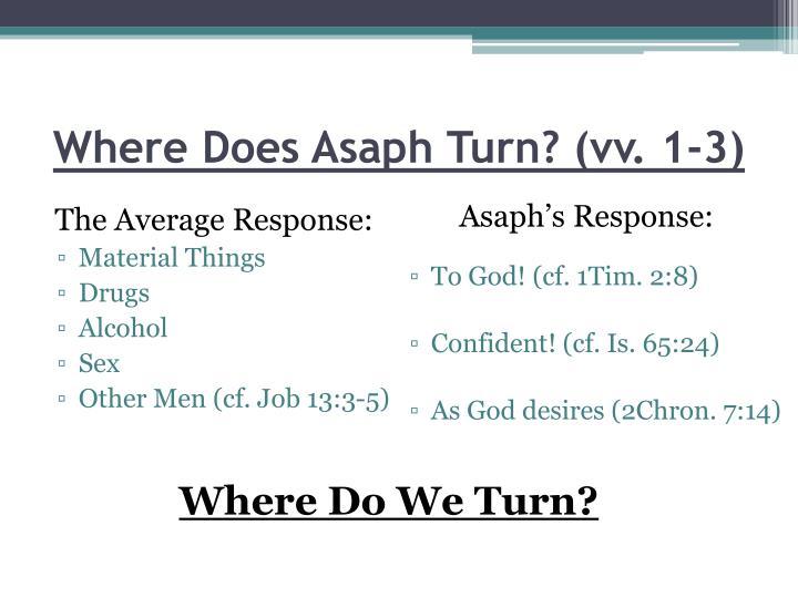 Where Does Asaph Turn? (vv. 1-3)