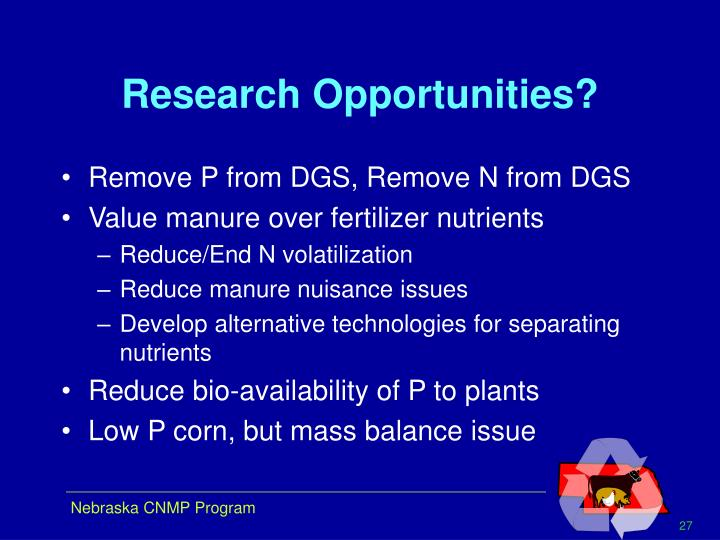 Research Opportunities?
