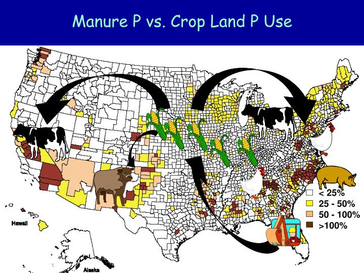 Manure P vs. Crop Land P Use