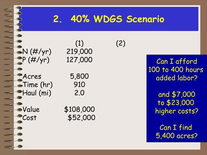 2.  40% WDGS Scenario