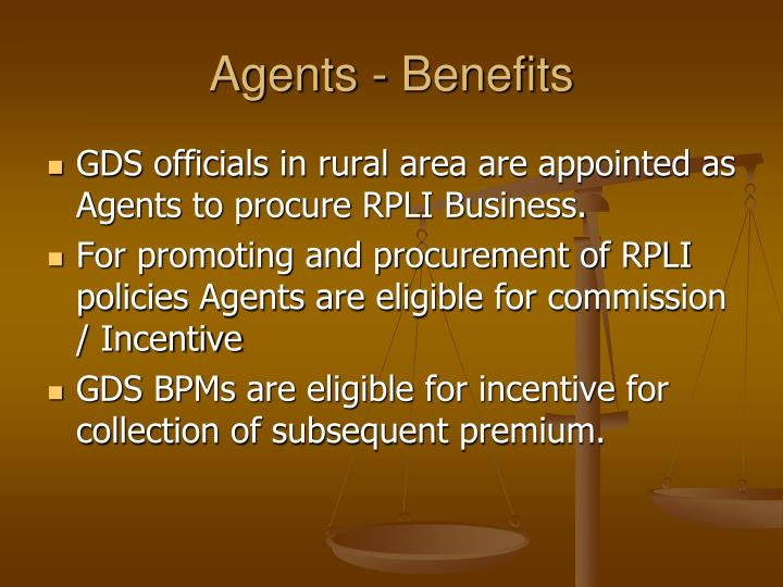 Agents - Benefits