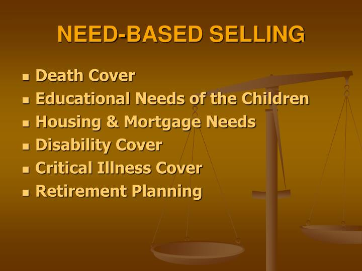 NEED-BASED SELLING