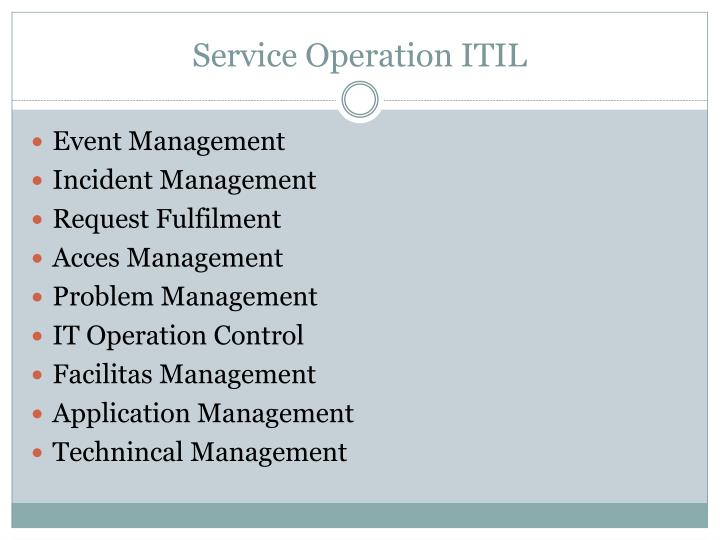 Service Operation ITIL