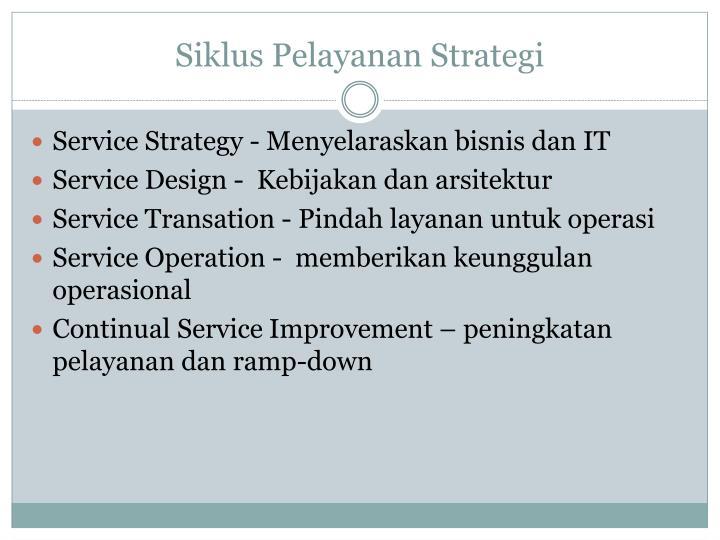 Siklus Pelayanan Strategi