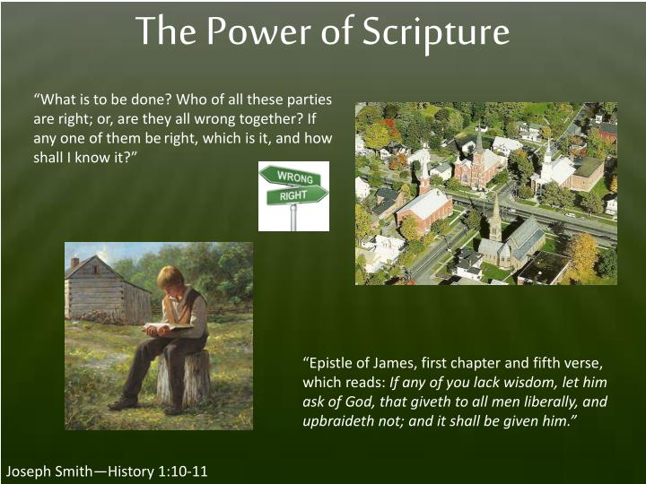 The Power of Scripture