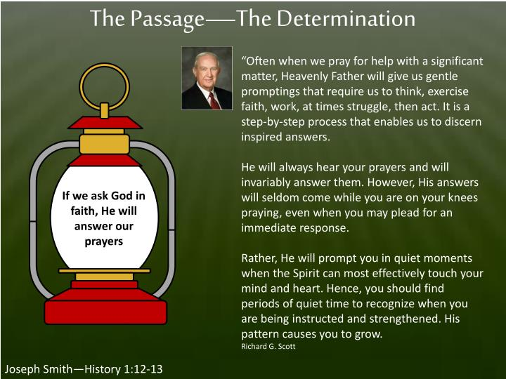 The Passage—The Determination