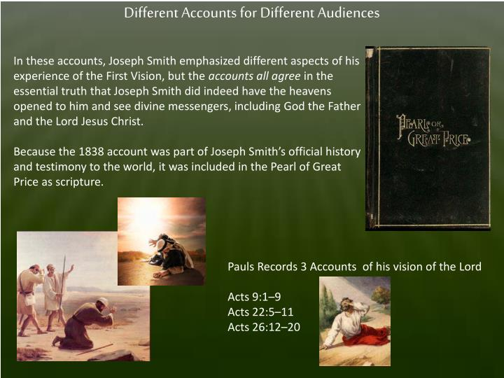 Different Accounts for Different Audiences