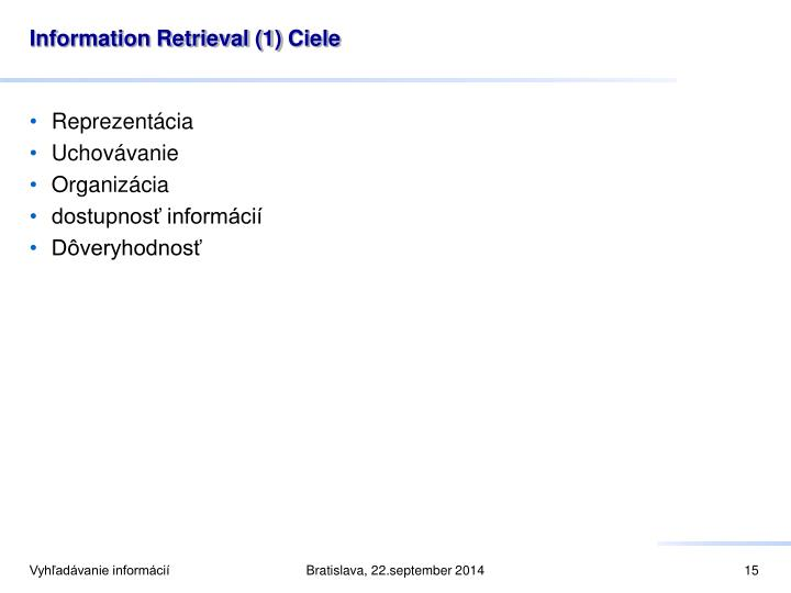 Information Retrieval (1)