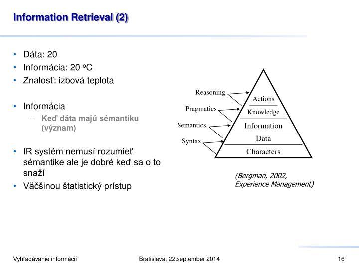 Information Retrieval (2)