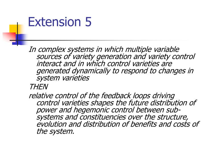Extension 5