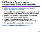 siam activity group promotes computational science engineering