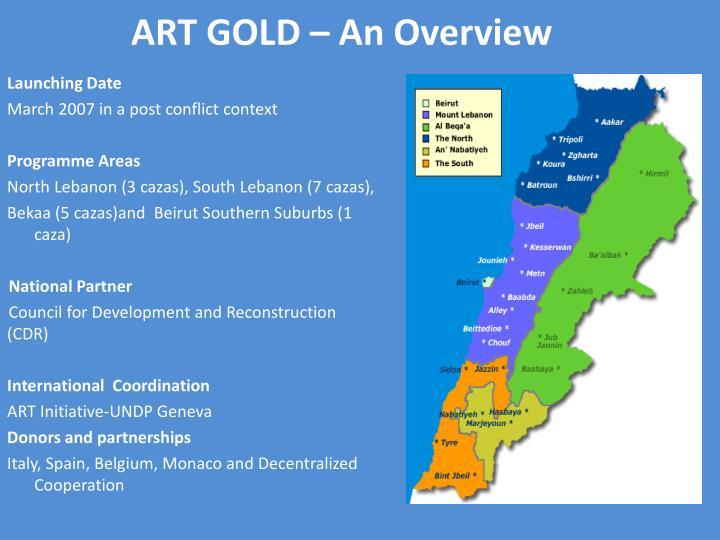 Art gold an overview