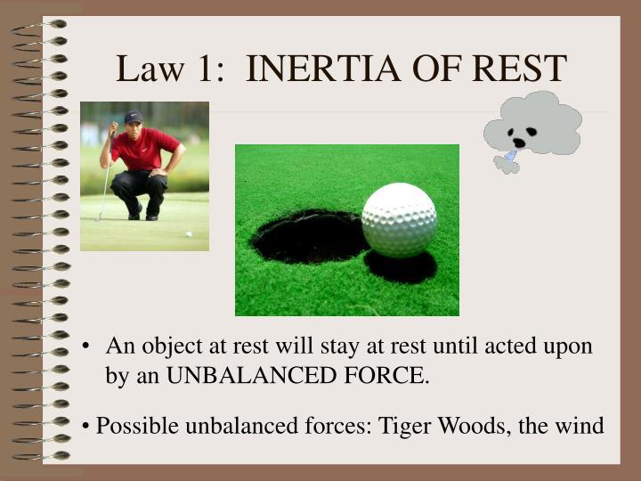 Law 1:  INERTIA OF REST