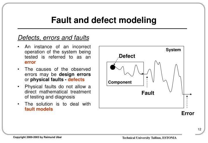 Fault and defect modeling