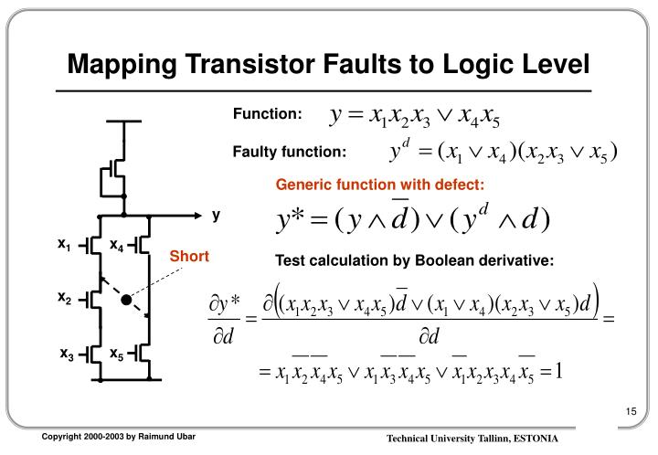 Mapping Transistor Faults to Logic Level