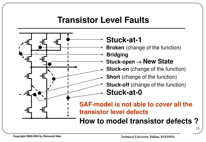 Transistor Level Faults