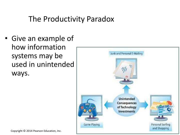 the productivity paradox a clash Economists have tagged this the productivity paradox others think productivity is in fact increasing but we simply don't know how to measure things like the value delivered by google and facebook, particularly when many of the benefits are free.