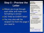 step 5 preview the letter