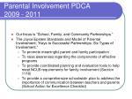 parental involvement pdca 2009 2011