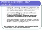 parental involvement pdca 2009 20113