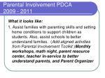 parental involvement pdca 2009 20114