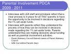 parental involvement pdca 2009 20116
