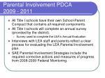 parental involvement pdca 2009 20117