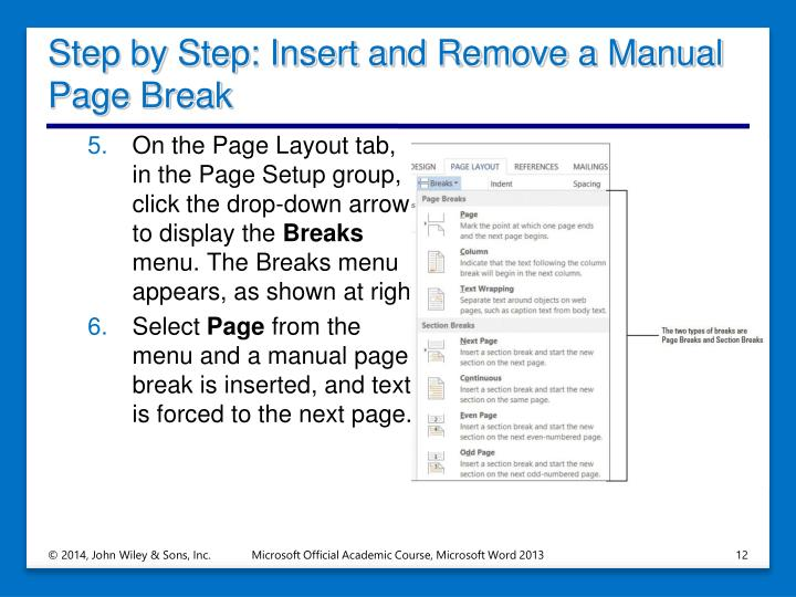 Step by Step: Insert and Remove a Manual Page Break