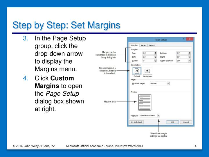 Step by Step: Set Margins