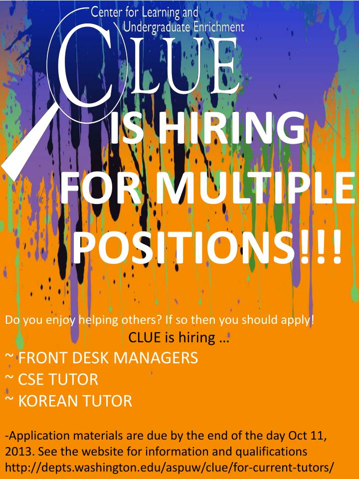 IS HIRING  FOR MULTIPLE POSITIONS!!!