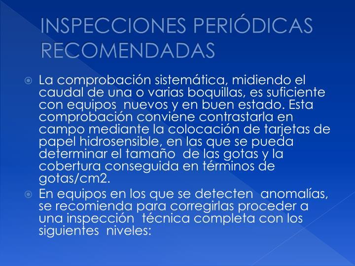 INSPECCIONES PERIÓDICAS