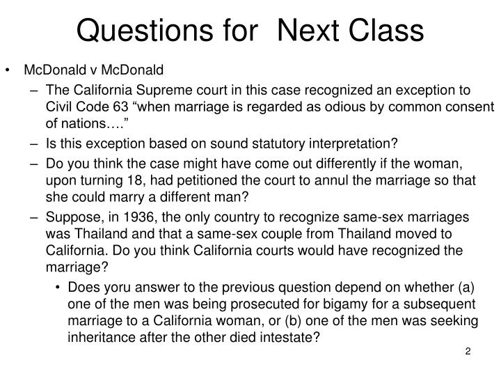 Questions for next class