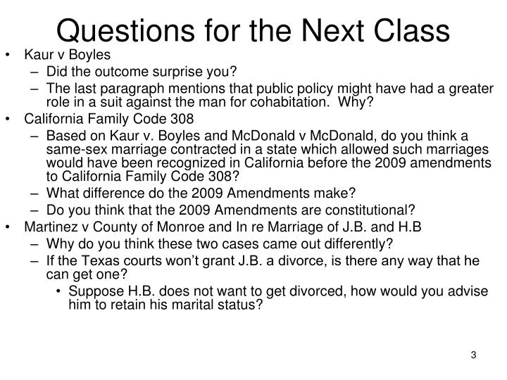 Questions for the next class