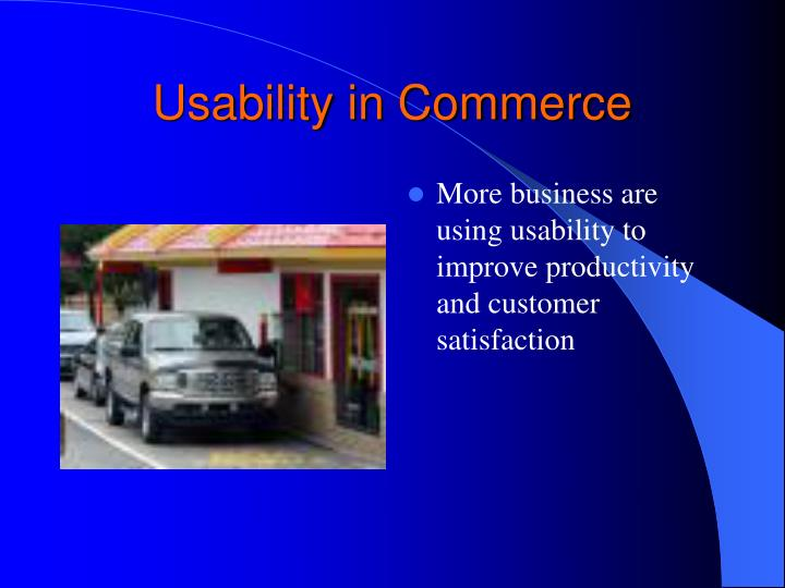 Usability in Commerce