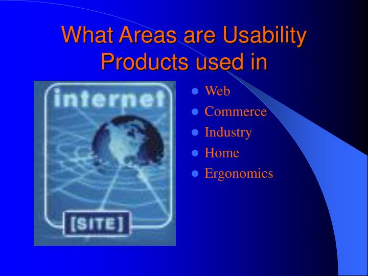 What Areas are Usability