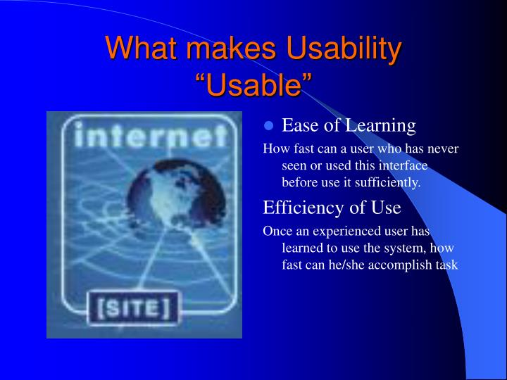 What makes Usability