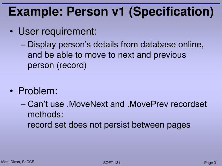 Example person v1 specification