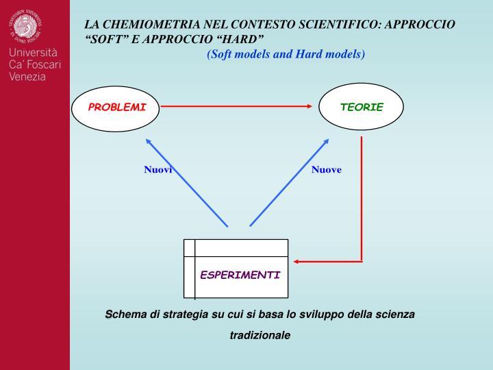 """LA CHEMIOMETRIA NEL CONTESTO SCIENTIFICO: APPROCCIO """"SOFT"""" E APPROCCIO """"HARD"""""""