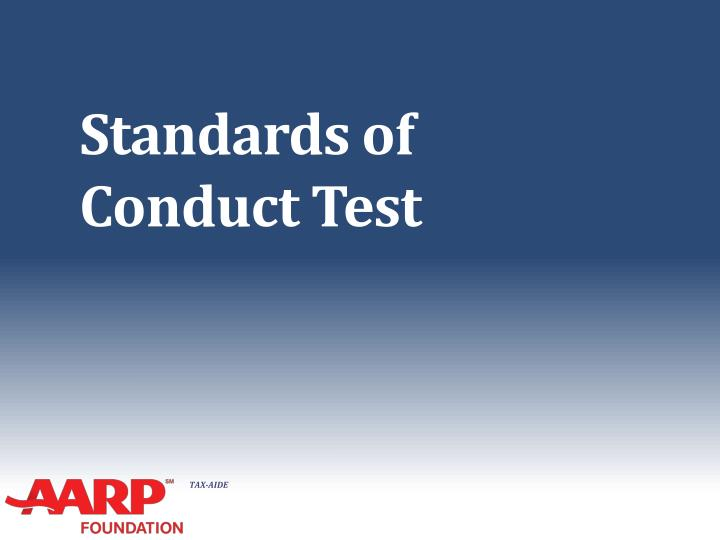 standards of conduct test n.