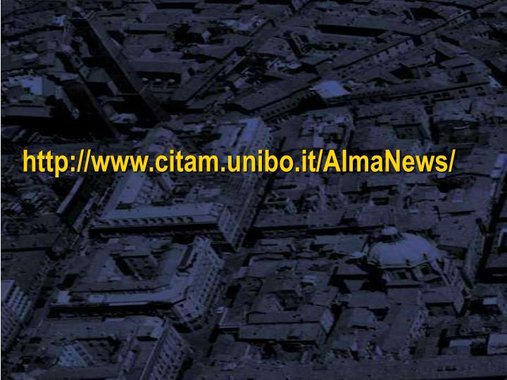 http://www.citam.unibo.it/AlmaNews/