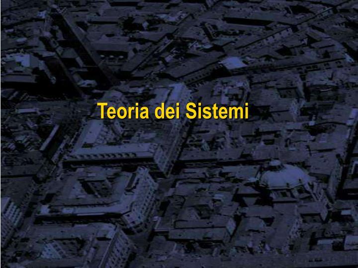 Teoria dei Sistemi