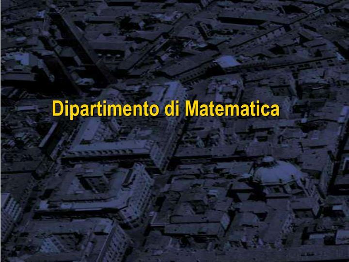 Dipartimento di Matematica