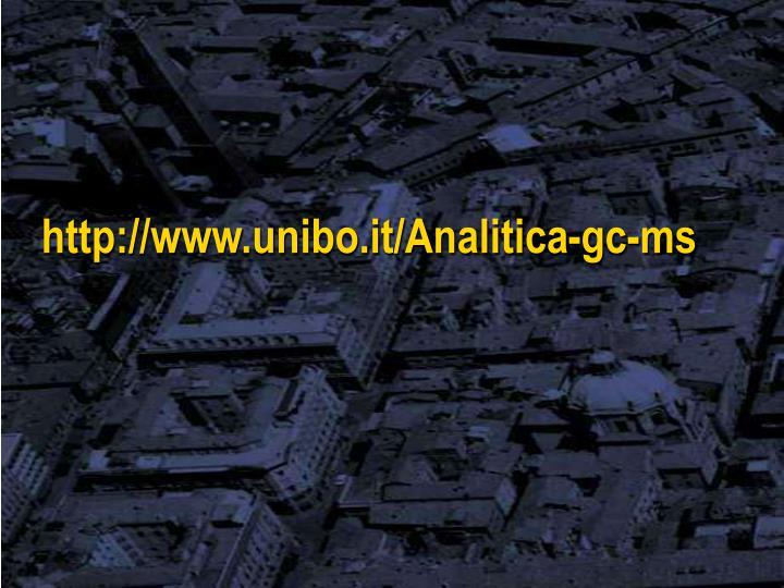 http://www.unibo.it/Analitica-gc-ms