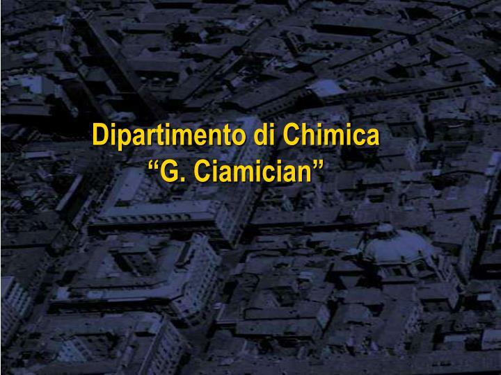 Dipartimento di Chimica