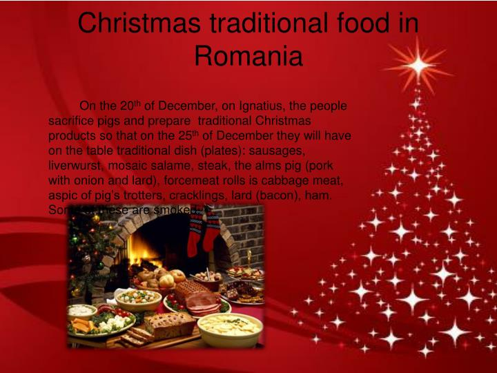 Christmas traditional food in Romania