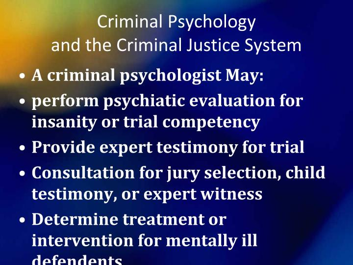 mentally ill in criminal justice sysytem Drug addiction cannot be decoupled from mental illness the justice system has a limited ability to effectively and the mentally ill need.