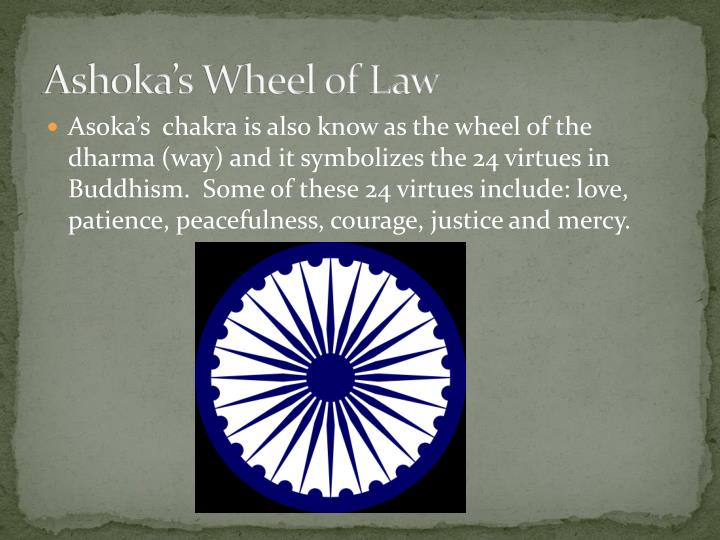 Ashoka's Wheel of Law