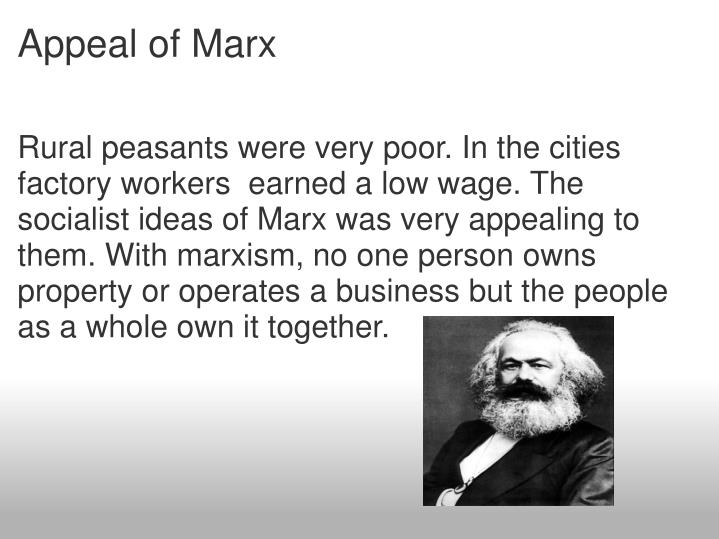 Appeal of Marx
