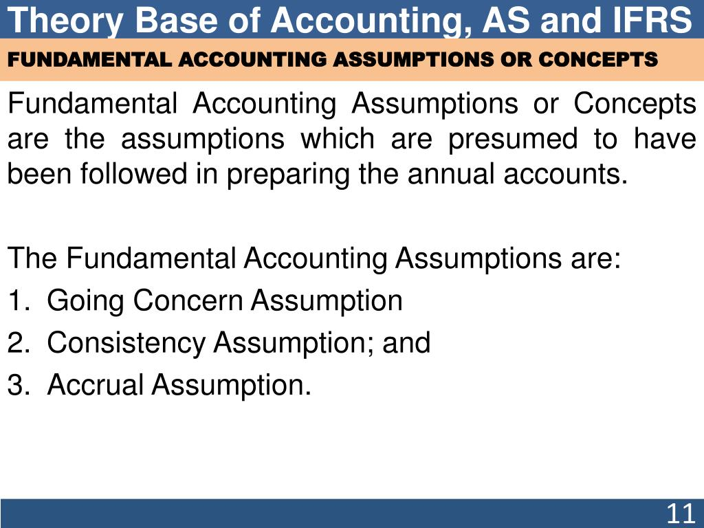 PPT - Chapter 3 Theory Base of Accounting, Accounting